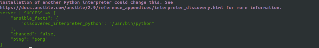 Ansible test